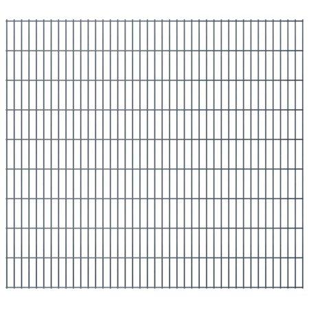 shumee Panele ogrodzeniowe 2D, 2,008 x 1,83 m, 8 m, szare
