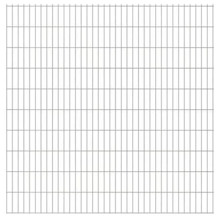 shumee Panele ogrodzeniowe 2D, 2,008 x 2,03 m, 34 m, srebrne