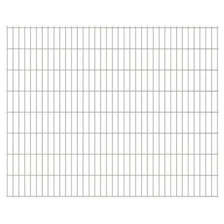 Panele ogrodzeniowe 2D 2008x1630 mm 34 m Srebrne