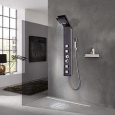 shumee Hnedý sprchový panel, sklenený dizajn
