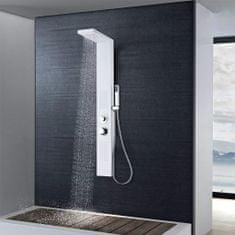 Hliníkový sprchový panel, matný biely