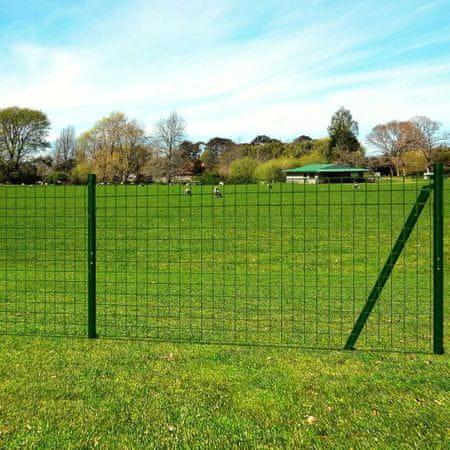 shumee Euro Fence zöld acélkerítés 10 x 1,96 m