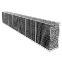 shumee Gabiónová stena s krytom, pozinkovaná oceľ 600x50x100 cm
