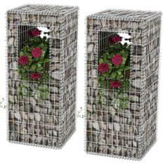 shumee Kosze gabionowe kolumny - donice, 2 szt., 50x50x120 cm
