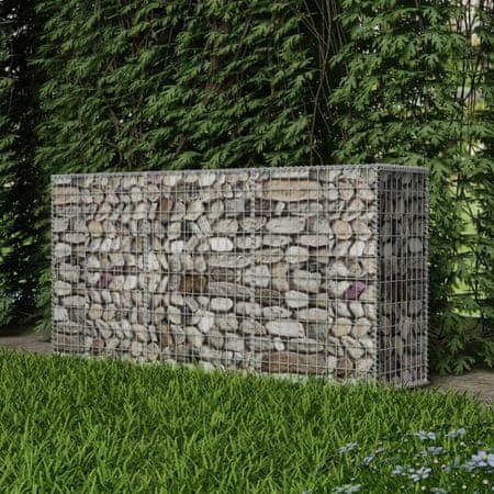 shumee horganyzott acél gabion kosár 200 x 50 x 100 cm