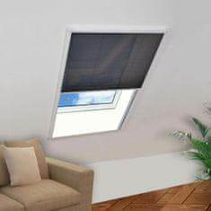 Plisowana moskitiera okienna, aluminium, 120x120 cm