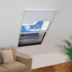 Plisowana moskitiera okienna z roletą, aluminium, 60x80 cm