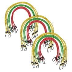 Linki Bungee, 30 szt, 60/80/100 cm, czerwona, żółta, zielona