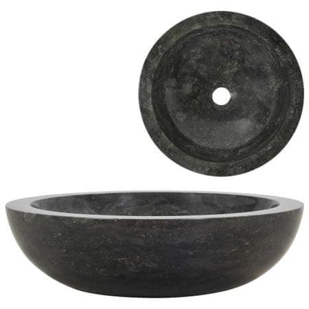 shumee fekete márvány mosdókagyló 40 x 12 cm