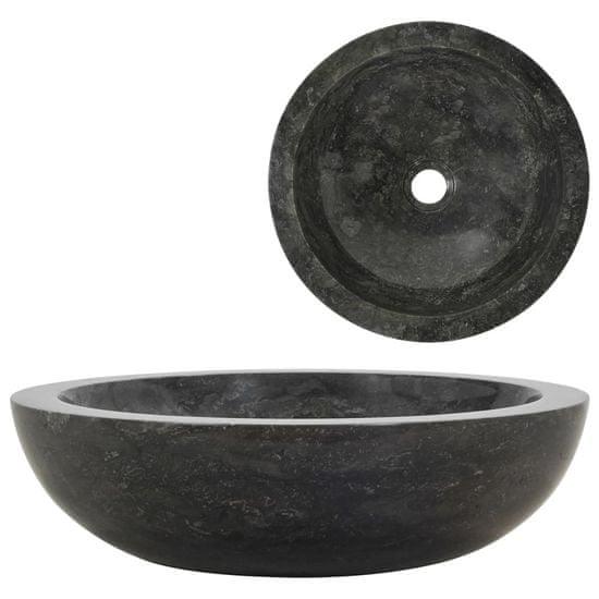 shumee Umyvadlo 40 x 12 cm mramor černé