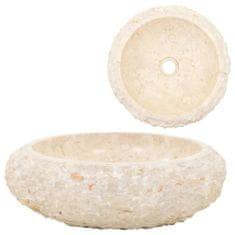 shumee Umývadlo 40x12 cm, mramor, krémové
