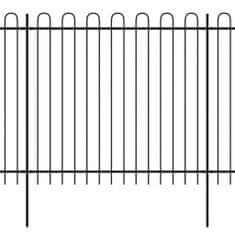 shumee Bezpečnostní palisádový plot s obloučky ocel 600 x 175 cm černý