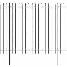 shumee Bezpečnostní palisádový plot s obloučky ocel 600 x 200 cm černý