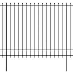 shumee Bezpečnostní palisádový plot s hroty ocel 600 x 200 cm černý