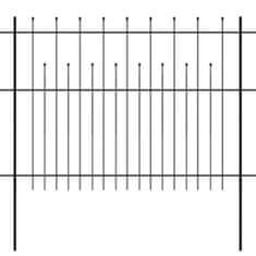shumee Bezpečnostní palisádový plot s hroty ocel 600 x 150 cm černý