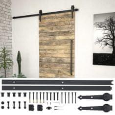 shumee Sada příslušenství pro posuvné dveře 183 cm ocelová černá