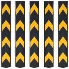 shumee Reflexní ochranné profily na rohy 5 ks gumové 80 cm