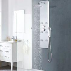 shumee Sprchový panel skleněný 25 x 44, 6 x 130 cm bílý