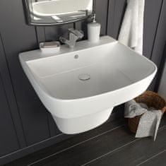 shumee Nástenné umývadlo keramické biele 500x450x410 cm