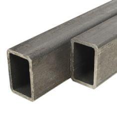 shumee Konštrukčné obdĺžnikové oceľové rúry 2 ks 1m 60x30x2mm
