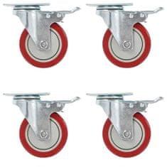 shumee Otočné kolieska s dvojitou brzdou 4 ks, 100 mm