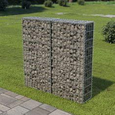 shumee Gabionová zeď s kryty z pozinkované oceli 100 x 20 x 100 cm