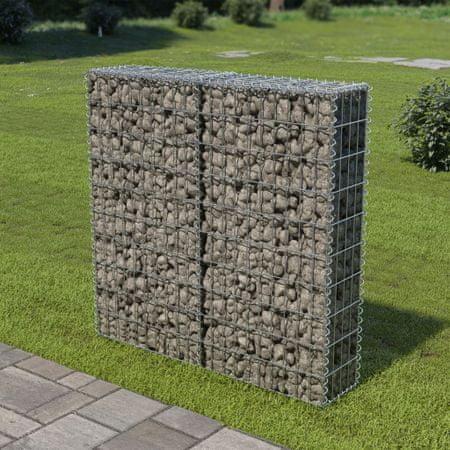 shumee horganyzott acél gabion fal felső zárással 100 x 20 x 100 cm