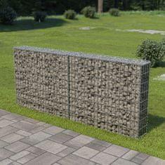 shumee Gabionová zeď s víky z pozinkované oceli 200 x 20 x 85 cm