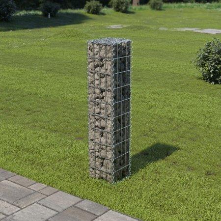 shumee Ściana gabionowa z pokrywami, galwanizowana stal, 20x20x100 cm
