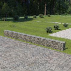 shumee Gabionová zeď s víky z pozinkované oceli 600 x 30 x 50 cm