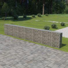 shumee Gabionová zeď s víky z pozinkované oceli 600 x 30 x 100 cm
