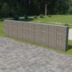 shumee Gabionová zeď s víky z pozinkované oceli 600 x 30 x 150 cm