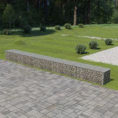 shumee Gabionová zeď s víky z pozinkované oceli 600 x 50 x 50 cm