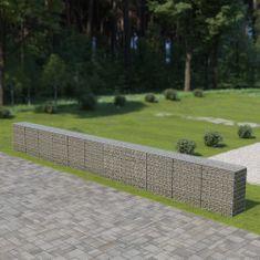 shumee Gabionová zeď s víky z pozinkované oceli 900 x 50 x 100 cm