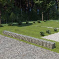 shumee Gabionová zeď s víky z pozinkované oceli 900 x 50 x 50 cm