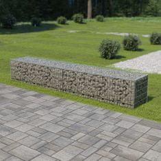 shumee Gabionová zeď s víky z pozinkované oceli 300 x 50 x 50 cm