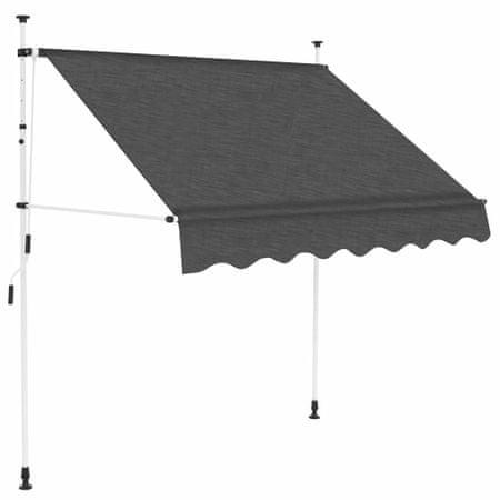 slomart Ročno zložljiva tenda 150 cm antracitna