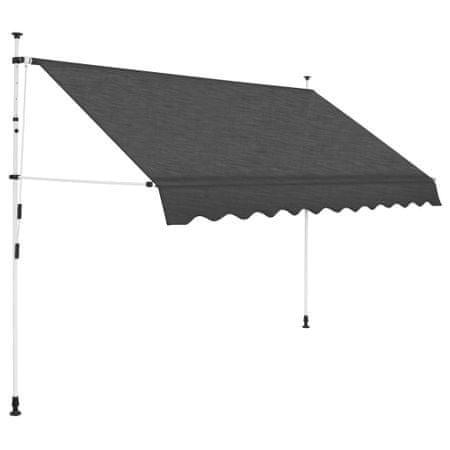 slomart Ročno zložljiva tenda 250 cm antracitna