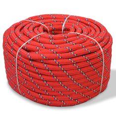 Linka żeglarska z polipropylenu, 10 mm, 250 m, czerwona
