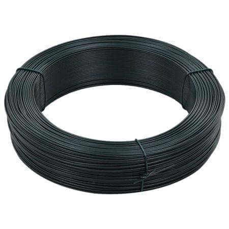 shumee zöldesfekete acél kerítésösszekötő drót 250 m 0,9/1,4 mm