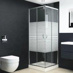 Kabina prysznicowa, bezpieczne szkło, 70x70x185 cm
