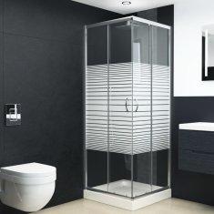 Kabina prysznicowa, bezpieczne szkło, 80x70x185 cm