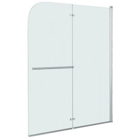 Składana kabina prysznicowa, 2 panele, ESG, 120 x 140 cm