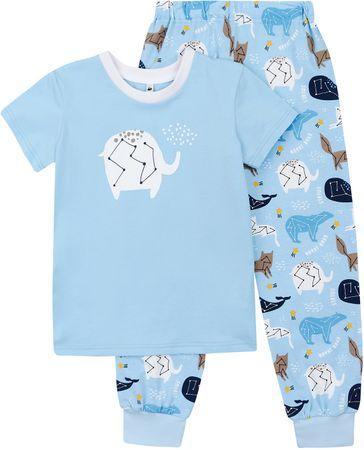 Garnamama piżama chłopięca STAR 122 niebieska