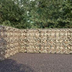 shumee Gabionová zeď s víky z pozinkované oceli 900 x 50 x 200 cm