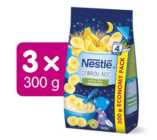 Nestlé Mléčná kaše Banánová na dobrou noc 3x300g + dárek