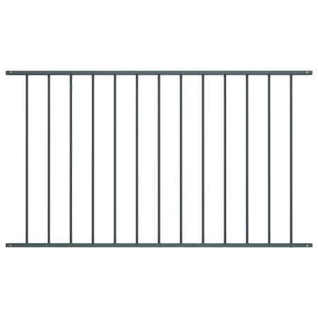 shumee antracitszürke porszórt acél kerítéspanel 1,7 x 1 m