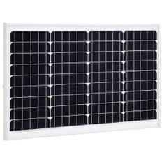 Panel słoneczny, 40 W, monokrystaliczny, aluminium i szkło