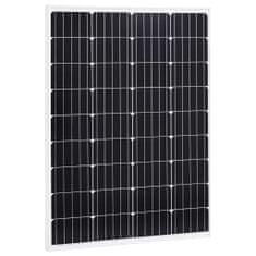 Panel słoneczny, 100 W, monokrystaliczny, aluminium i szkło