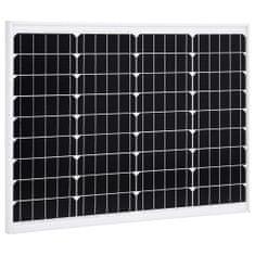 Panel słoneczny, 50 W, monokrystaliczny, aluminium i szkło